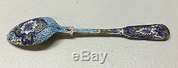 Russian Imperial Silver 84 Enamel Spoon Hallmarked 45 Grams