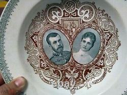 Russian imperial Nikolaus II & Alexandra Romanov Porcelain coronation Plate