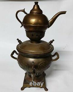 Samovar Antique Brass Russian Tea Imperial Urn Coffee Pot Rare Teapot Copper