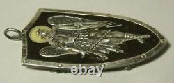 WWI Token Enamel Silver 84 Imperial Russian 1917 Archangel Michael Double Eagle