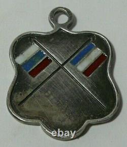 WWI Token Pendant Silver 84 Enamel Imperial Russian Moscow 1915